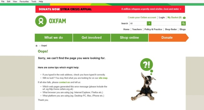 Oxfam - oops, sorry