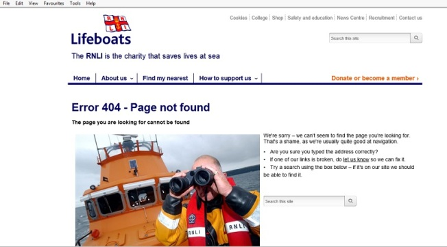 RNLI's we're usually quite good at navigation