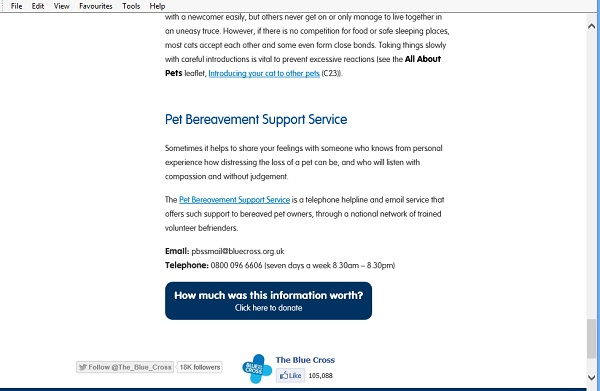 Blue Cross - what is this content worth box