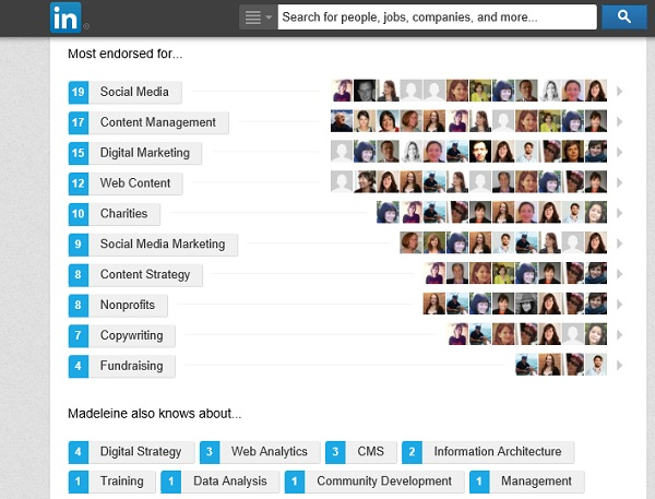 LinkedIn skills profile
