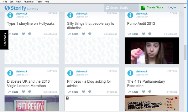Selection of DiabetesUK Storifys