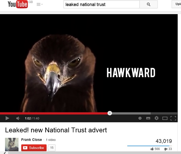 Spoof National Trust ad - you tube
