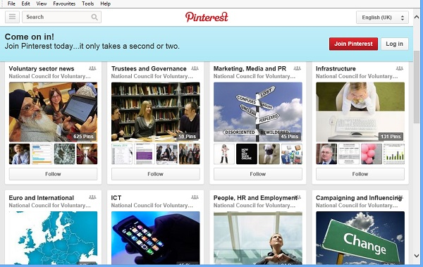 NCVO's Pinterest boards