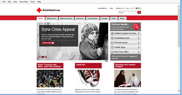 British Red Cross website 2014