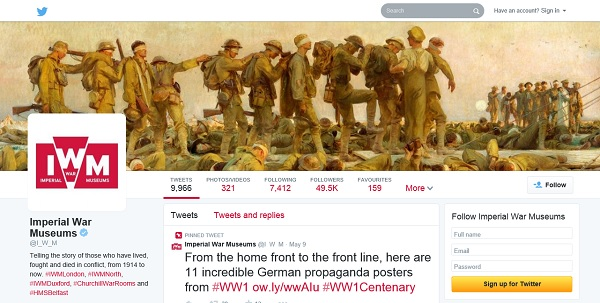 IWM - using a painting of WW1