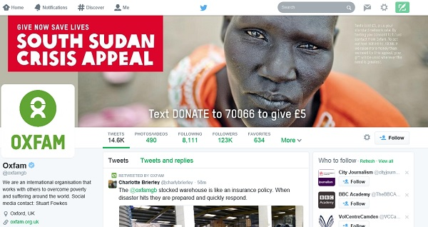Oxfam GB: powerful image of a face to support their South Sudan appeal