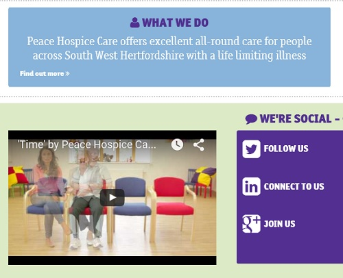 Peace Hospice statement: Peace Hospice Care offers excellent all-round care for people across South West Hertfordshire with a life limiting illness