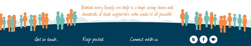 "Severn Hospice - ""Behind every family we help is a huge caring team and hundreds of kind supporters who make it all possible"""