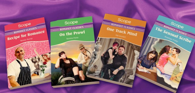 Covers of Mills&Boon books featuring disabled characters