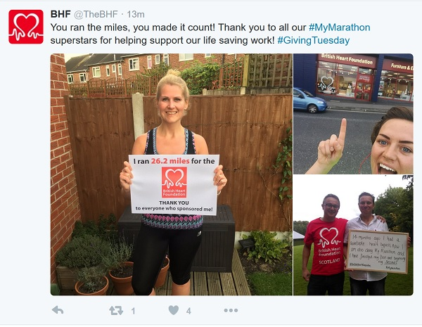 BHF: 'you ran the miles, you made it count'