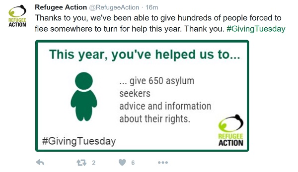 Refugee Action - 'this year, you've helped us to...