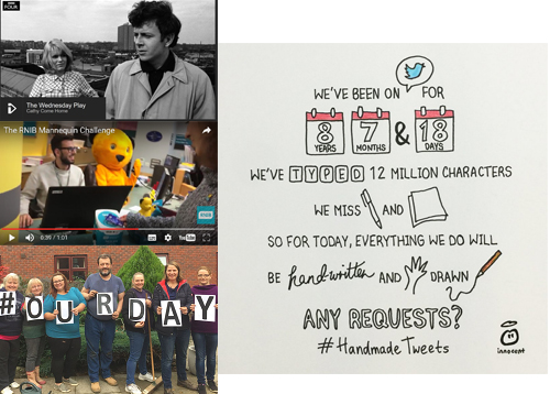 Cathy Come Home, RNIB's Mannequin Challenge, #OurDay and Innocent's #handmadetweets