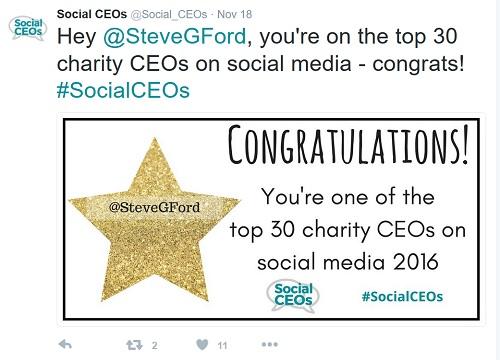 Spcial CEOs - naming and congratulating individual winners.