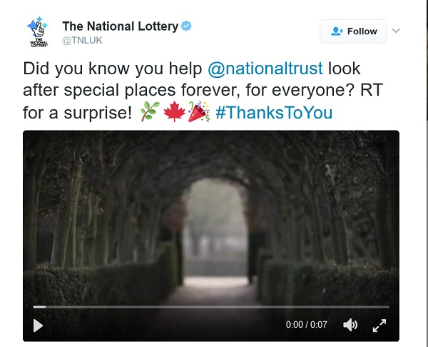 National Lottery video of interesting doors / walls