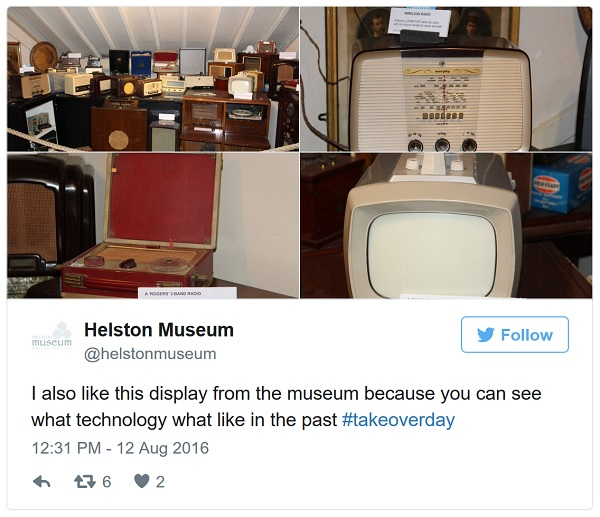Take over day tweet from Helston Museum