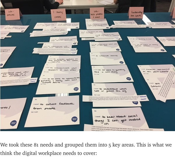 Citizens Advice - card sorting exercise
