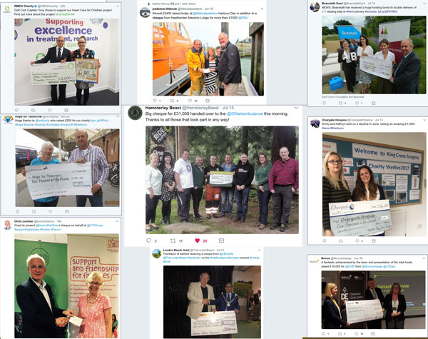 Collage of awful cheque pictures