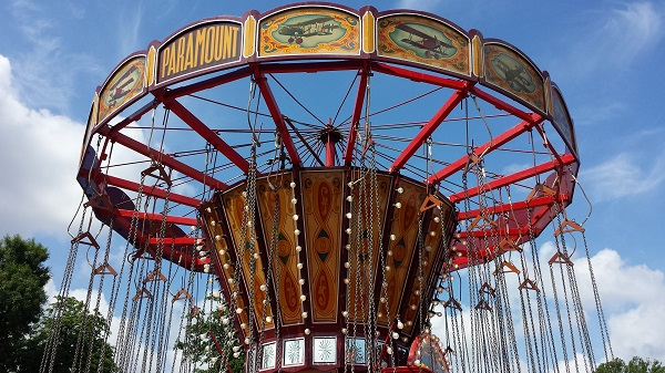Photo of a fairground carousel
