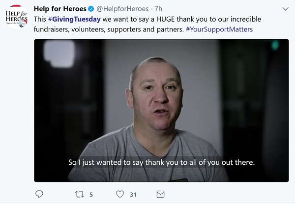 Help for Heroes thank you video