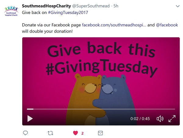 Southmead Hospital Charity video - Giving Back this #GivingTuesday