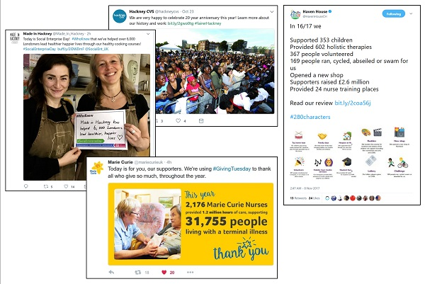 4 examples of how charities show their impact on social using hashtags