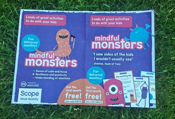Scope subscription box Mindful Monsters for parents and chidren