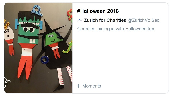 screenshot of Halloween Twitter Moment