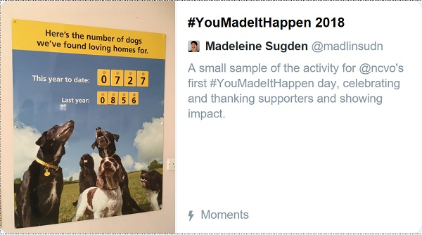 screenshot of #YouMadeItHappen Twitter Moment