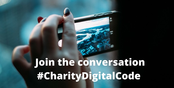 'Join the conversation about the #CharityDigitalCode'
