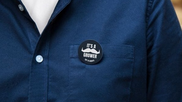 Movember's contactless fundraising badges