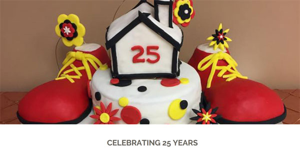 screenshot from Ronald McDonald House Charities of Corpus Christi, cake celebrating 25 years