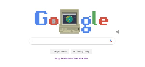 Google Doodle for the web at 30