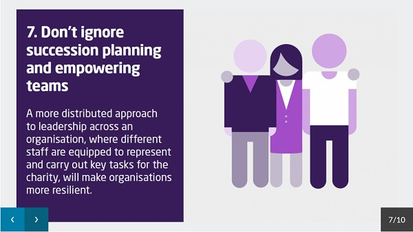 One of the 10 tips - don't ignore succession planning and empowering teams