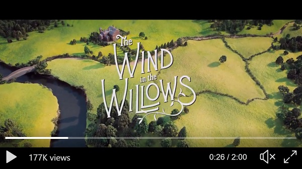 screenshot from Wildlife Trusts' video of animated Wind in the Willows