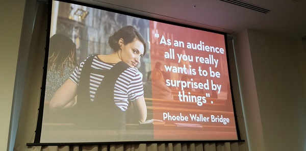 "Slide from Bruce Daisley's session at the Charity Digital Conference - quote from Fleabag author ""As an audience all you really want is to be surprised by things."""