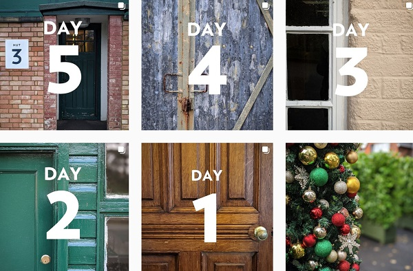 Screenshot of day1-5 on Bletchley Park's Instagram advent calendar