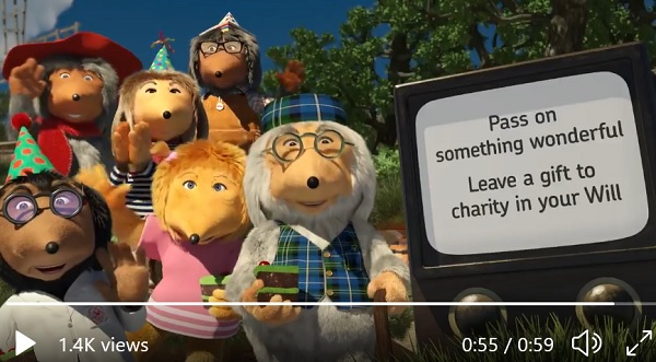 screenshot from The Wombles' video